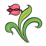 Élément décoratif, tulipe Image stock