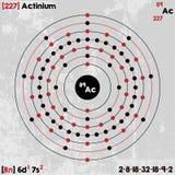 Élément d'actinium Photographie stock