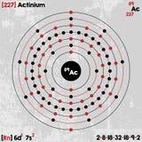 Élément d'actinium Photos stock