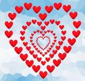 Élément d'amour de coeur de jour de valentines sur le backgrou polygonal abstrait Image libre de droits