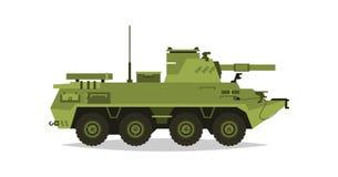 Élément d'artillerie automoteur Recherche, inspection, examen optique, fusées, coquilles Équipement pour la guerre Tout le véhicu illustration libre de droits
