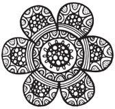 Élément d'isolement par vecteur de mandala de fleur illustration stock