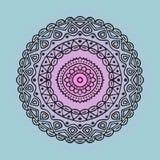 Élément de boho d'illustration de vecteur pour la conception Vecteur noir de cercle, modèle Photo stock