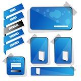Élément de calibre de conception de site Web Vecteur EPS10 Photographie stock