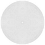 Élément de cercle concentrique Anneau noir et blanc de couleur Illustration abstraite de vecteur pour l'onde sonore, graphique mo illustration stock