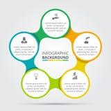 Élément de cercle de vecteur pour infographic Photos libres de droits