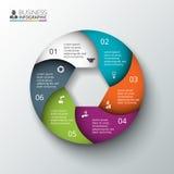 Élément de cercle de vecteur pour infographic Image stock