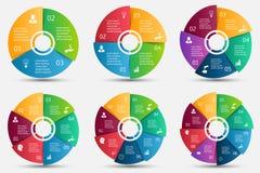 Élément de cercle de vecteur pour infographic illustration libre de droits