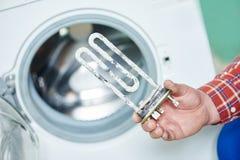 Élément de chauffe électrique de Turbular pour la machine à laver Photos libres de droits