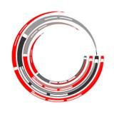 Élément de conception de cercle Chiffre d'étoile blanc Photo stock
