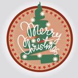 Élément de conception d'arbre de Joyeux Noël Image libre de droits