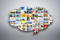 Élément de conception de bulle de la parole fait de photos des personnes, des animaux et des endroits illustration stock