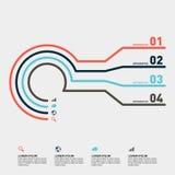 Élément de conception de calibre de rapport d'Infographic Photographie stock