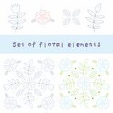 Élément de conception de fleur Photo libre de droits