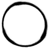 Élément de conception de jet de cercle de graffiti dans le noir sur le blanc illustration libre de droits