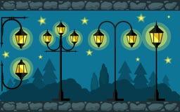 Élément de conception de lumières plat Image libre de droits