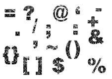 Élément de conception de numéro avec la texture florale Image libre de droits