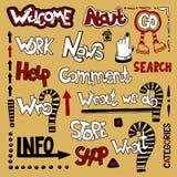Élément de conception de Web de lettrage Photos stock