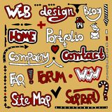 Élément de conception de Web de lettrage Images libres de droits