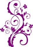 élément de conception floral Illustration de Vecteur