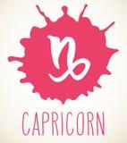 Élément de conception de signe de zodiaque de Capricorne Images libres de droits
