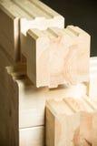 Élément de construction collée de bois de construction photo stock