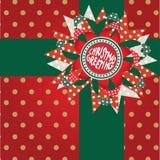 Élément de décor de cadeau de salutation de Noël Photo libre de droits