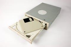 Élément de disque compact-ROM avec la disquette Photos libres de droits
