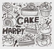 Élément de gâteau de griffonnage Photographie stock libre de droits