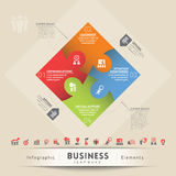 Élément de graphique de concept de travail d'équipe d'affaires Images stock