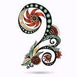 Élément de Henna Paisley Mehndi Doodles Design. Images libres de droits