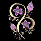 Élément de Henna Paisley Mehndi Doodles Design. Photos libres de droits