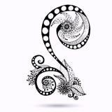 Élément de Henna Paisley Mehndi Doodles Design Image libre de droits