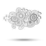 Élément de Henna Paisley Mehndi Doodles Design Photos stock