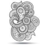 Élément de Henna Paisley Mehndi Doodles Design Image stock