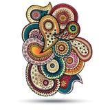Élément de Henna Paisley Mehndi Doodles Design Photographie stock