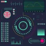 Élément de HUD UI pour l'APP Interface utilisateurs futuriste Interface utilisateurs graphique virtuelle abstraite de contact Élé Photos libres de droits
