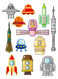Élément de l'espace de dessin animé Images libres de droits