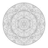 Élément de Mandala Coloring Page Flower Design pour le livre adulte de couleur illustration libre de droits