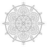 Élément de Mandala Coloring Page Flower Design pour le livre adulte de couleur illustration de vecteur