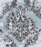 Élément de modèle de damassé de vecteur Fond démodé de luxe classique de grunge d'ornement Texture victorienne royale pour illustration libre de droits