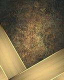 Élément de plaque signalétique d'or pour la conception Calibre pour la conception copiez l'espace pour la brochure d'annonce ou l illustration stock
