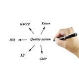 Élément de présentation du système de qualité (OIN, gmp, haccp, 5s, kaiz Photographie stock libre de droits