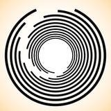 Élément de spirale/vortex Concentrique, rayonnant les lignes GR abstrait illustration de vecteur