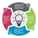 élément de vecteur de 4 étapes dans quatre couleurs avec des labels, diagramme infographic Concept d'affaires de 4 étapes ou opti illustration de vecteur