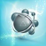 élément de wireframe de la sphère 3D Conception abstraite de molécule Structure d'atome Illustration Stock