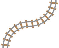 Élément du chemin de fer d'isolement sur le fond blanc Photographie stock libre de droits