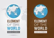 Élément du monde Signage de symbole d'icône Creativ Photos libres de droits