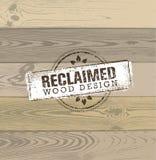 Élément en bois repris de conception Ensemble créatif de labels et de timbres rustiques pour Custom Interior Workshop Company Photo libre de droits