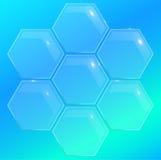 élément en verre de polygone de pentagone pour la conception Images stock